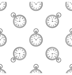 seamless retro pattern clock vector image