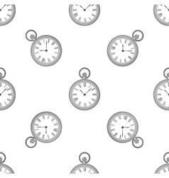 seamless retro pattern clock vector image