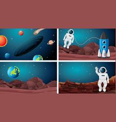 Set astronaut in space vector