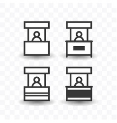 set of sales booth icon simple flat style vector image