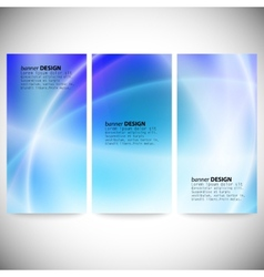 Set of vertical banners Abstract background blue vector