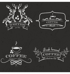 Set of vintage retro coffee logo badges and labels vector image