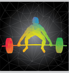 Silhouettes of people doing fitness and crossfit vector