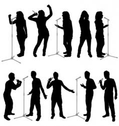 Singing people vector