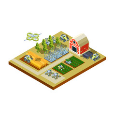 smart farm buildings big household agriculture vector image