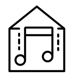 Smart home music icon outline style vector