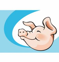 smiling pig vector image vector image