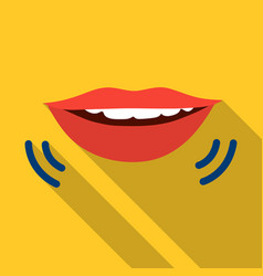 speaking mouth icon in flat style isolated on vector image