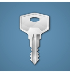 Steel key vector image