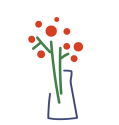 stylized icon in modern minimalism flowers in vector image