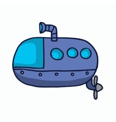 Submarine cartoon for kids t-shirt design vector