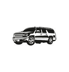 Suv or sport utility vehicle vector