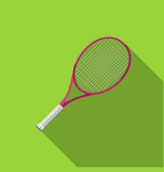 tennis racquet with long shadow vector image