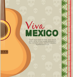 Traditional guitar instrument to celebrate event vector