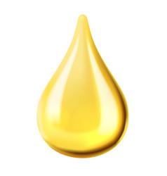 Transparent oil drop vector