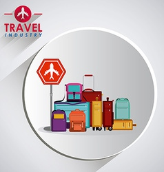 Travel icon design vector image