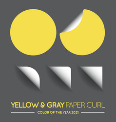 Trendy color yellow and gray round circle vector