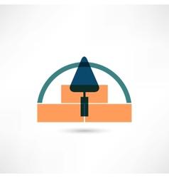 Trowel icon vector