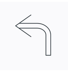 Turn left arrow icon Previous sign vector image