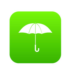 umbrella icon digital green vector image