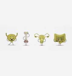 Unhealthy funny anatomical mascot bone urinary vector