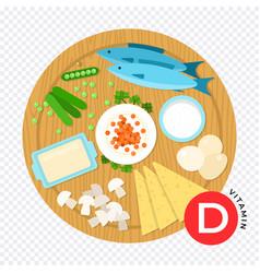 Vitamin d in flat design vector