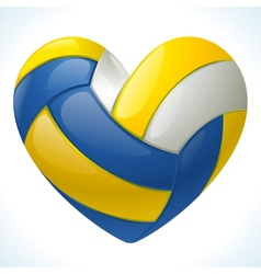 Volleyball heart vector