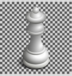 White queen chess piece in isometric vector