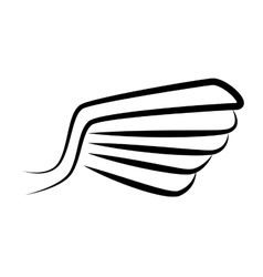wing stripes symbol icon graphic vector image