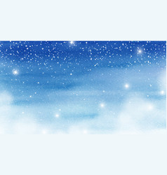 Winter christmas card with snowfalls sparkle vector