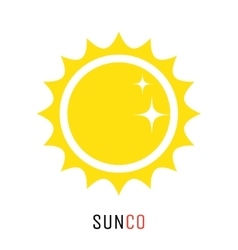 Yellow sun icon logo design concept vector
