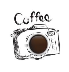 coffee cameral business drawn icon symbol idea vector image vector image