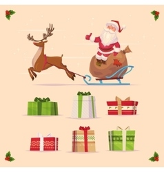 Gift set Christmas card poster banner vector image
