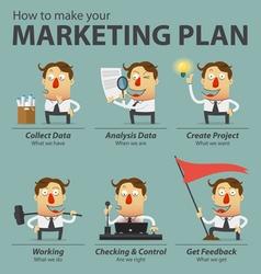 Marketing plan infographics vector image vector image