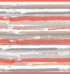 seamless pattern with color paint stripes vector image