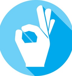 A Okay Hand Sign Icon vector image