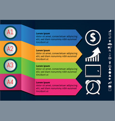 colorful infographics designelements for your vector image