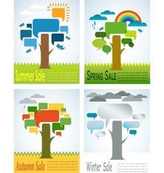 four seasons sale with four speech trees vector image vector image
