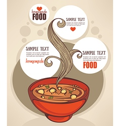 soup background vector image vector image