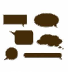 speech labels vector image