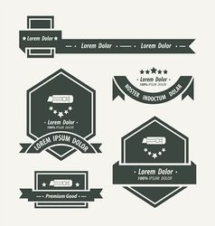 Utility knife label and ribbon template vector