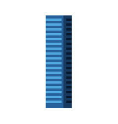 Blue tall building vector