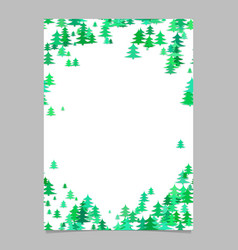 Christmas chaotic pine tree flyer template - vector