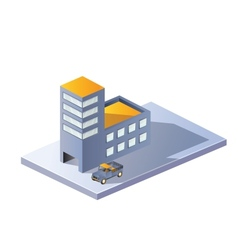 Image factory in isometric vector image