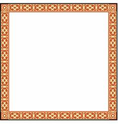 Russian ornamental frame vector image vector image