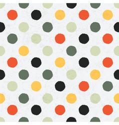 seamless variegated polka dot pattern vector image vector image