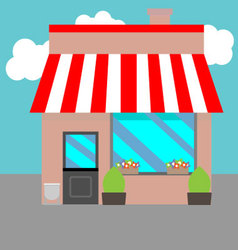 Small street shops vector image vector image
