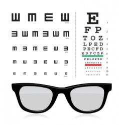 vector snellen eye test chart vector image