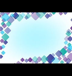 abstract background frame color of round square vector image
