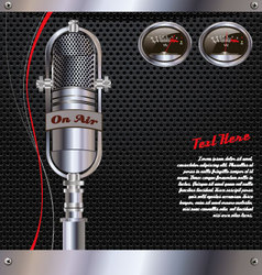Abstract background with retro microphone vector image